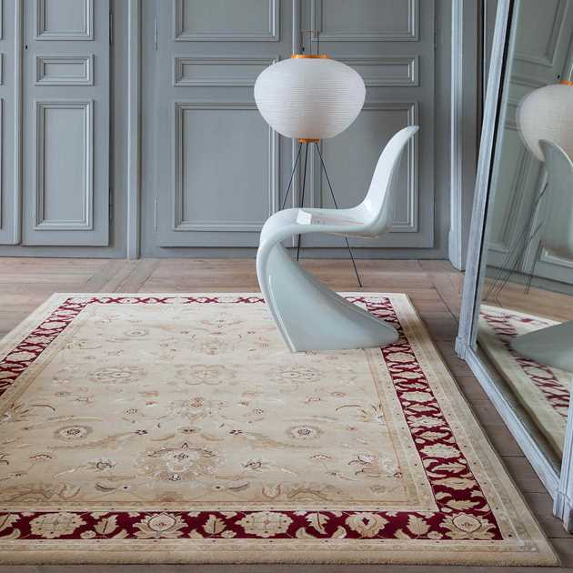Noble Art Traditional Rugs 65124 191 in Cream and Red