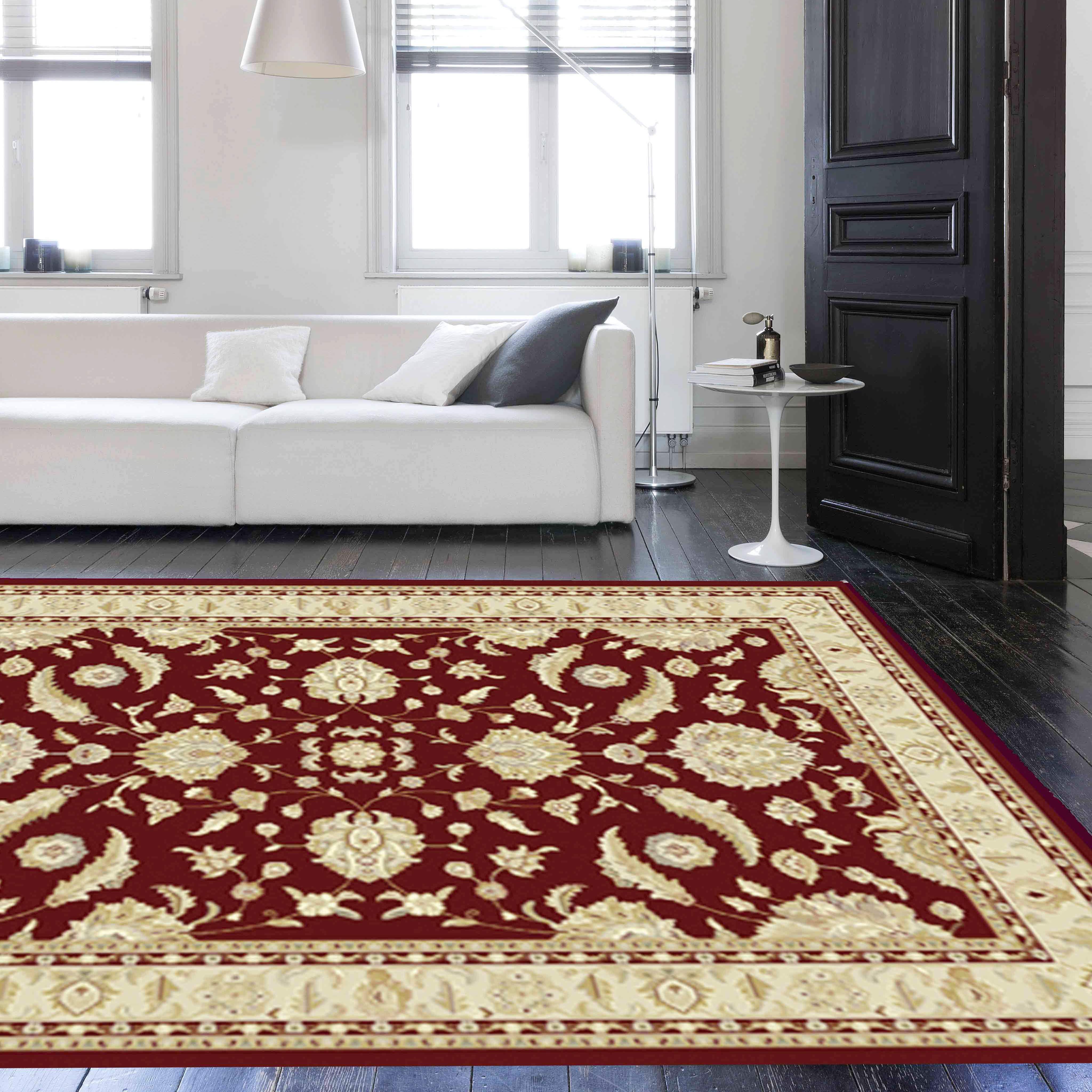 Noble Art Traditional Rugs 65124 390 in Brown and Beige