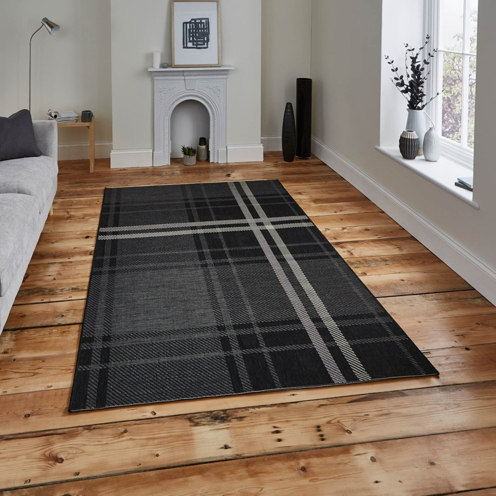 Breeze Rugs 6639 In Black Grey Buy Online From The Rug
