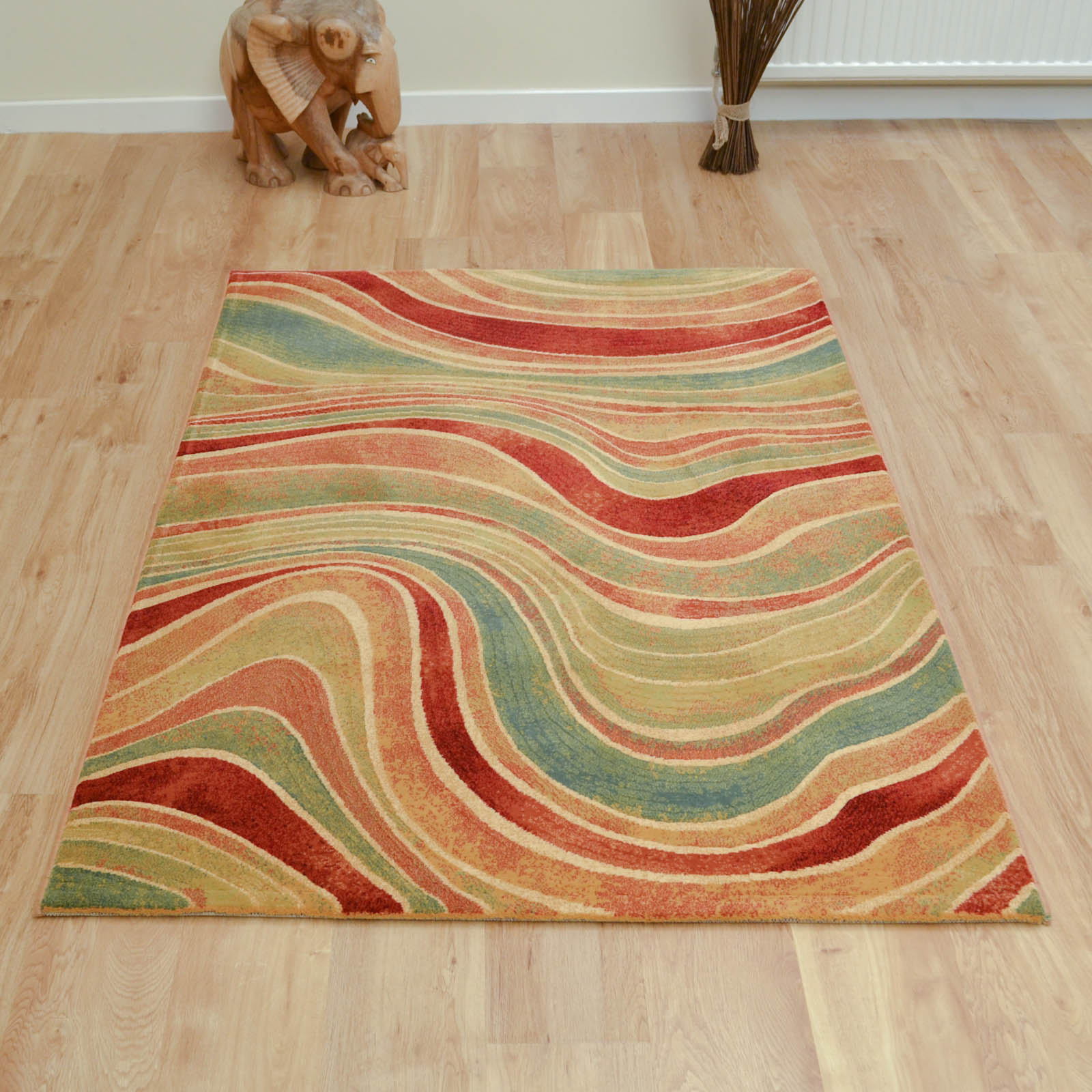 Galleria Rugs 68141 9090 Rust and Blue Swirl