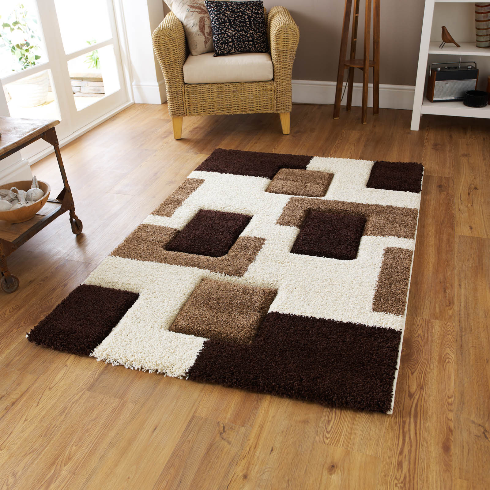 Fashion Carving Rugs 7646 in Ivory Brown