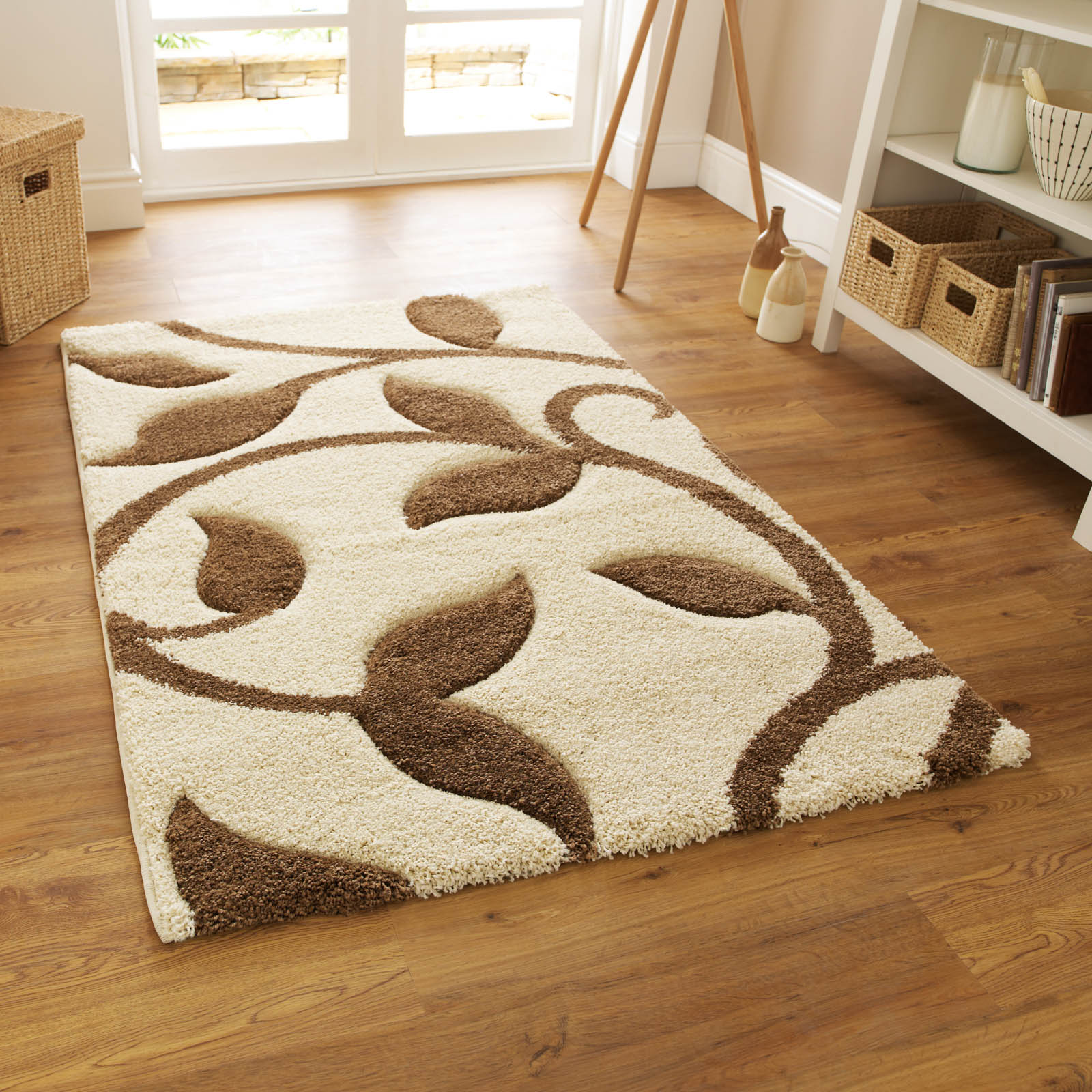 Fashion Carving 7647 Rugs in Ivory Beige