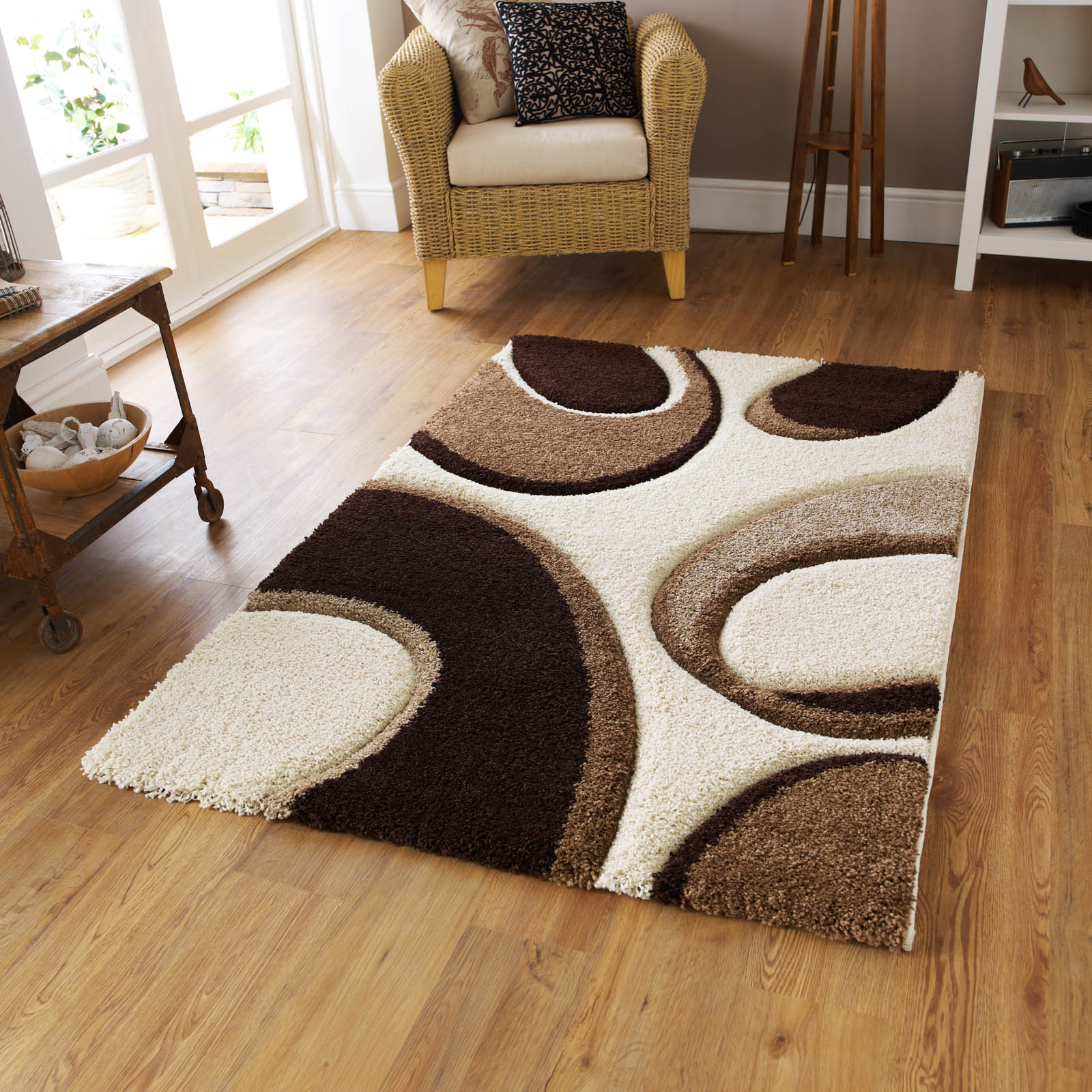 Fashion Carving 7648 rugs in Ivory Brown