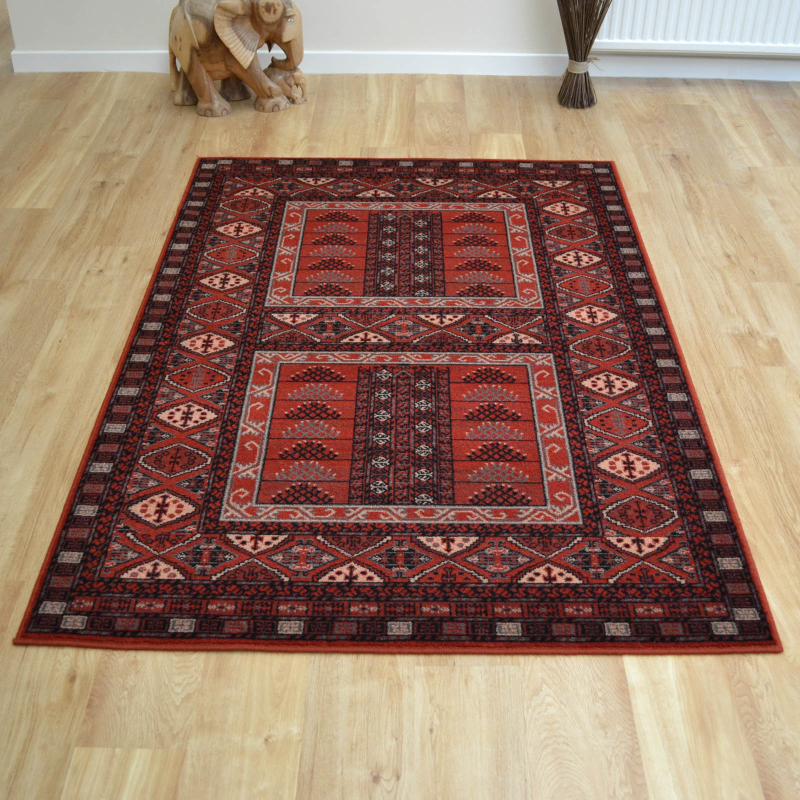 Afghan Rugs 7901 Traditional Wool in Red