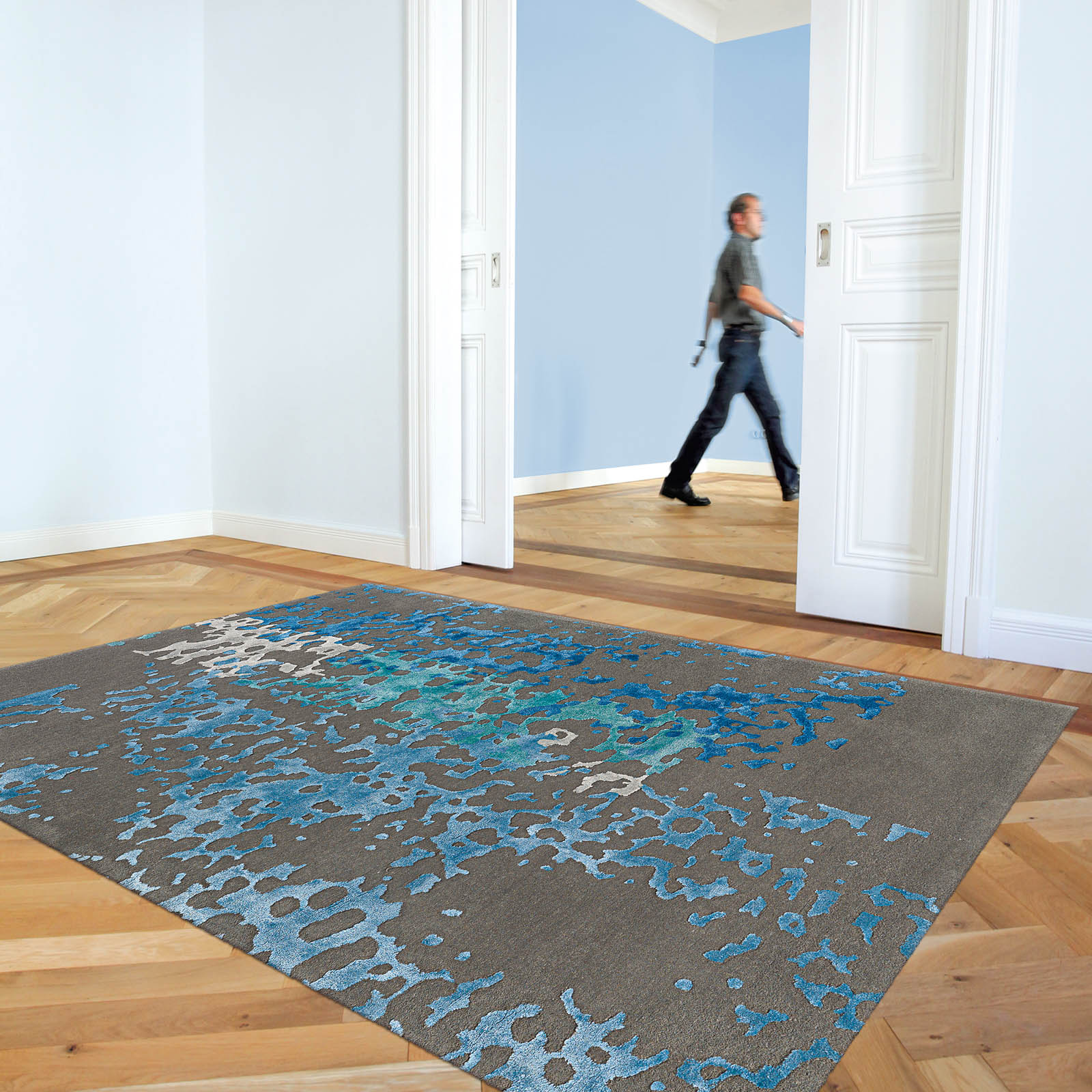 Arte Espina Coral Rugs 8051 53 in Blue
