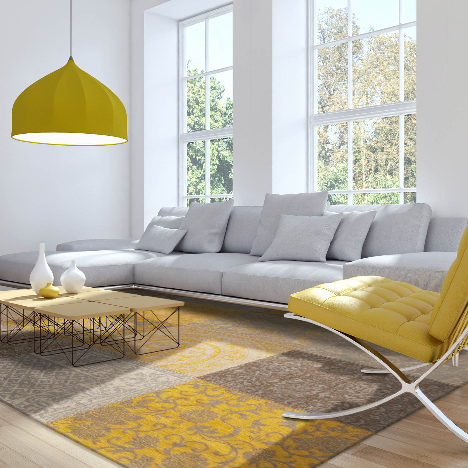 Louis de poortere rugs vintage multi 8084 yellow free uk - Gold rugs for living room ...