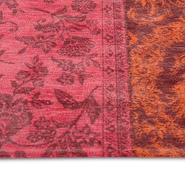 Louis De Poortere Rugs Vintage Multi 8103 Orange Purple