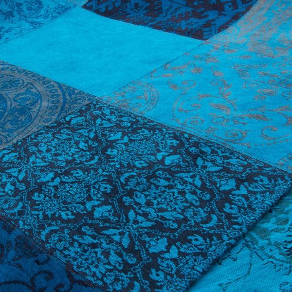 Louis De Poortere Rugs Vintage Multi 8105 Turquoise Blue
