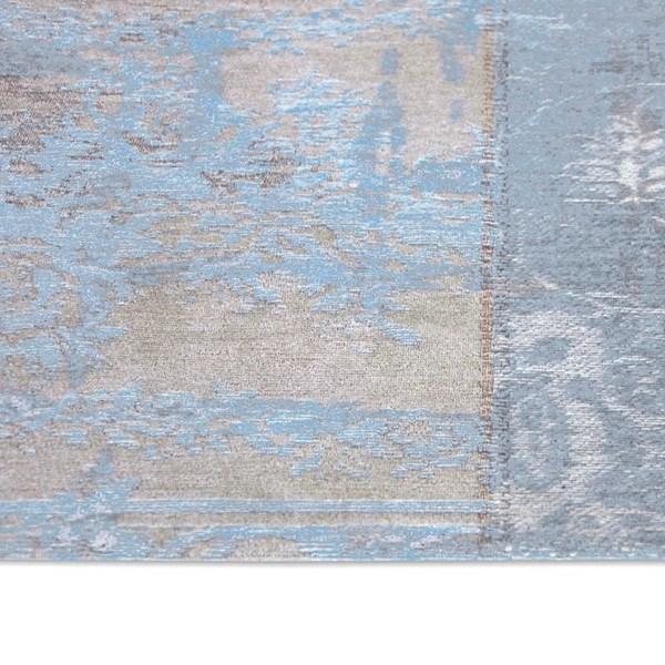Louis De Poortere Rugs Vintage Multi 8237 Gustavian Blue