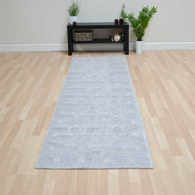 Bobohemian Flowers 8908 Glastonbury Grey Hallway Runner