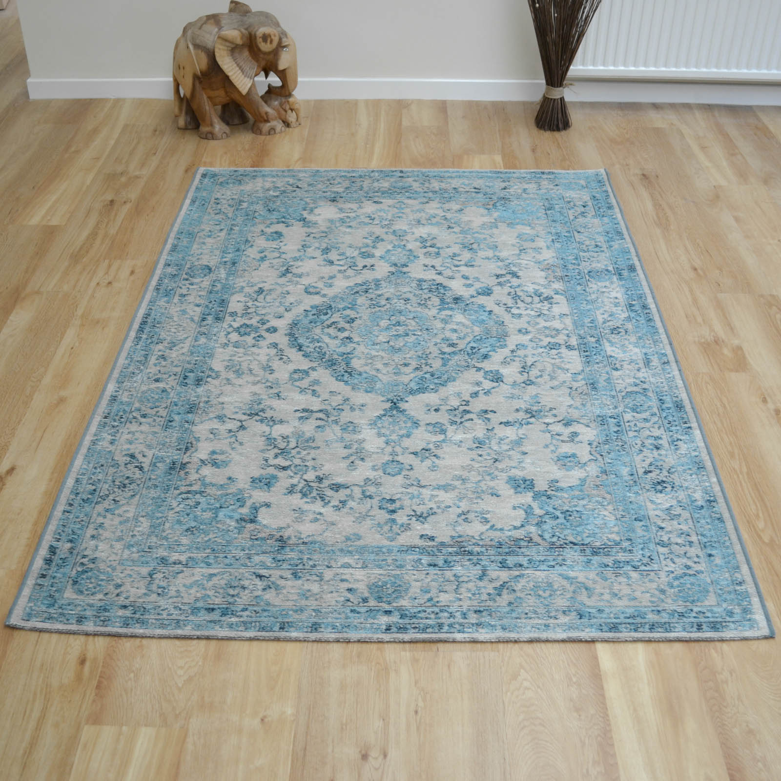 Capri Rugs 91269 5003 in Blue and Grey