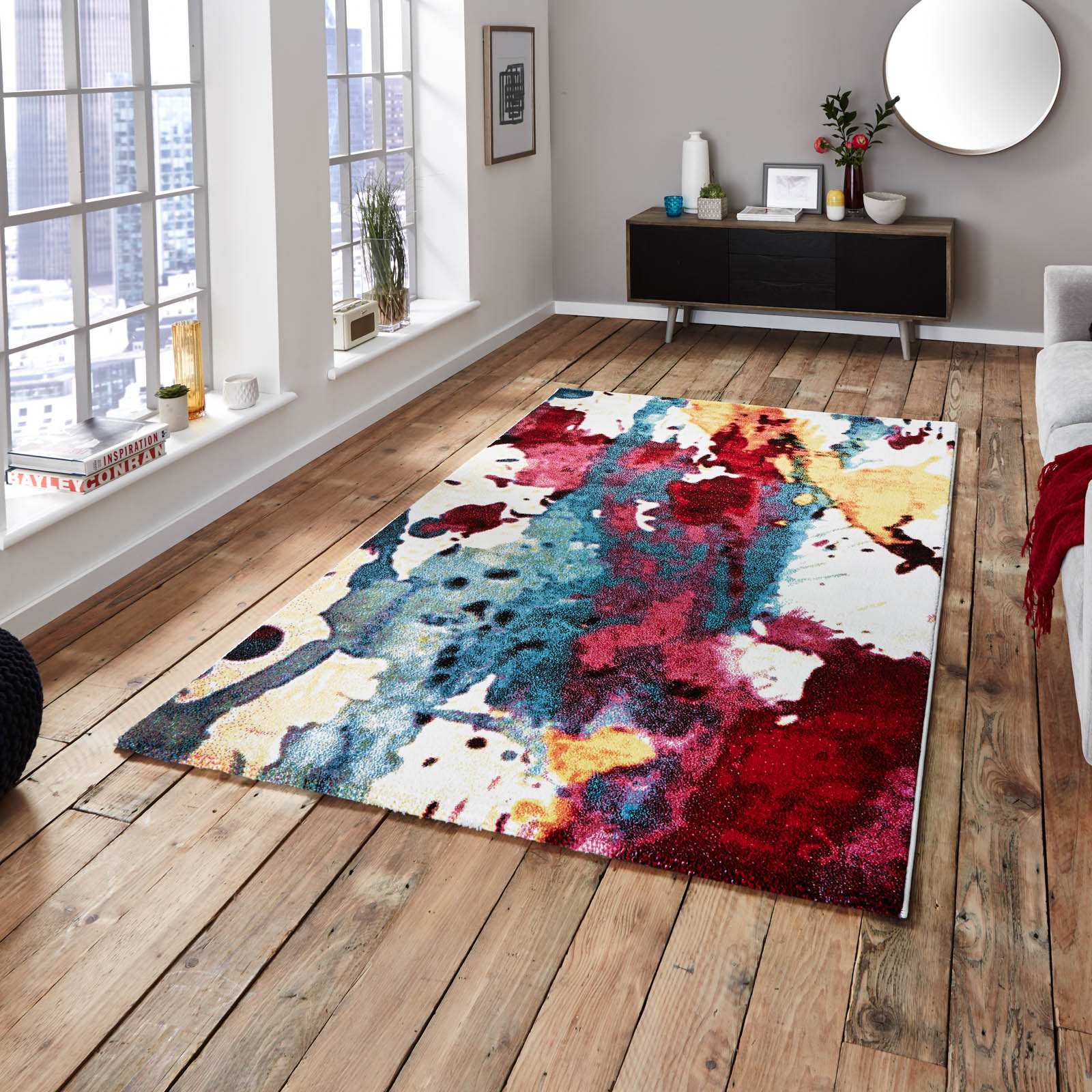 Sunrise Multi-coloured Rugs 9349A