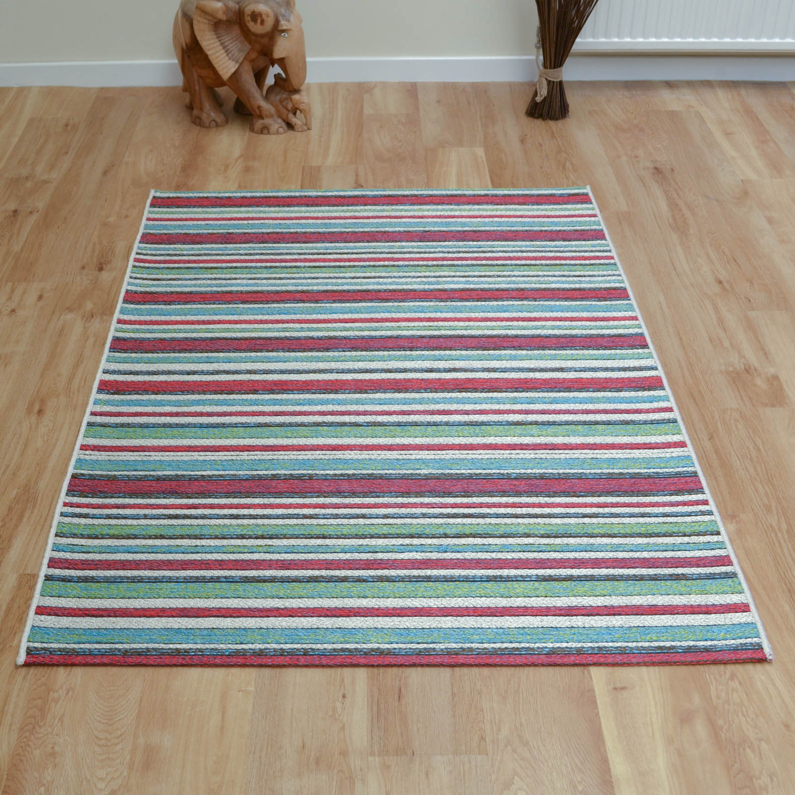 Brighton Rugs 98170 9001 in Red and Blue
