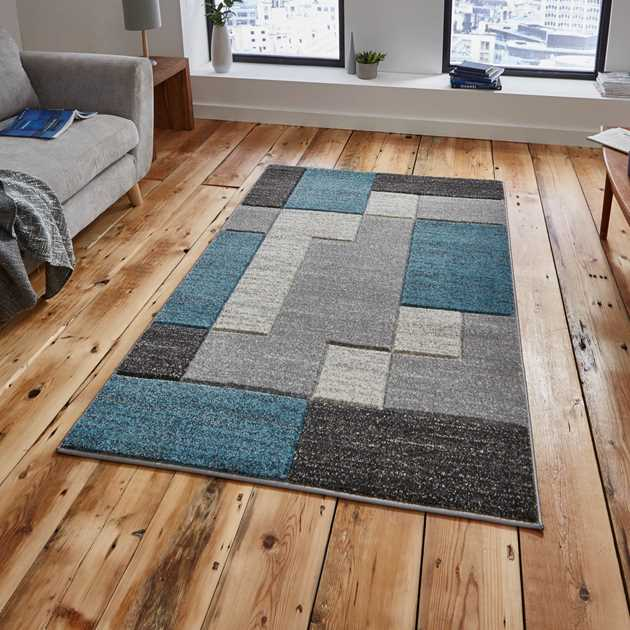Matrix Rugs A0221 in Grey Blue