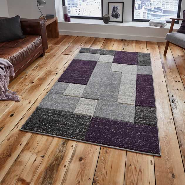 Matrix Rugs A0221 in Grey Lilac