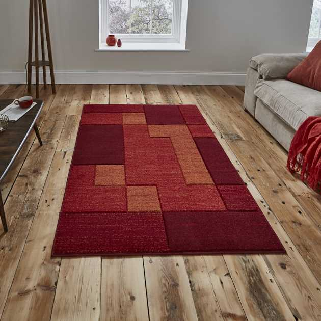 Matrix Rugs A0221 in Red