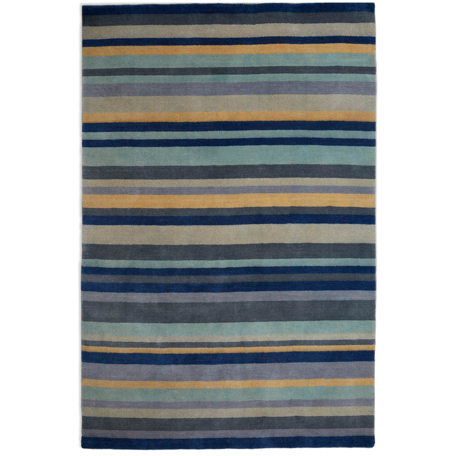 Ainslie Striped Rugs AIN03 in Blue