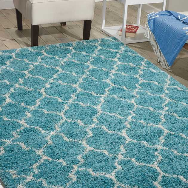 Nourison Amore AMOR2 Rugs in Aqua Blue