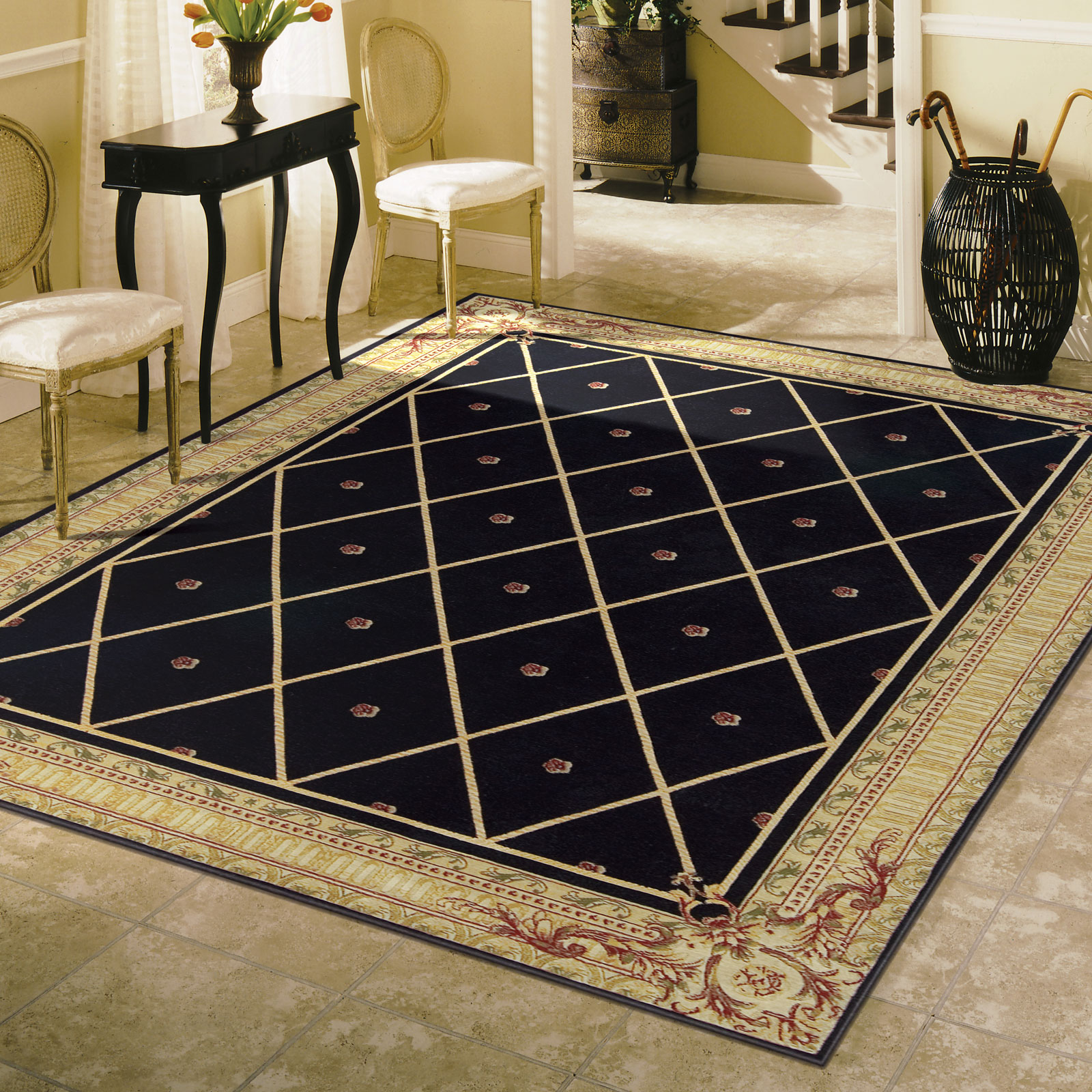 Ashton House Rugs by Nourison AS03 in Black