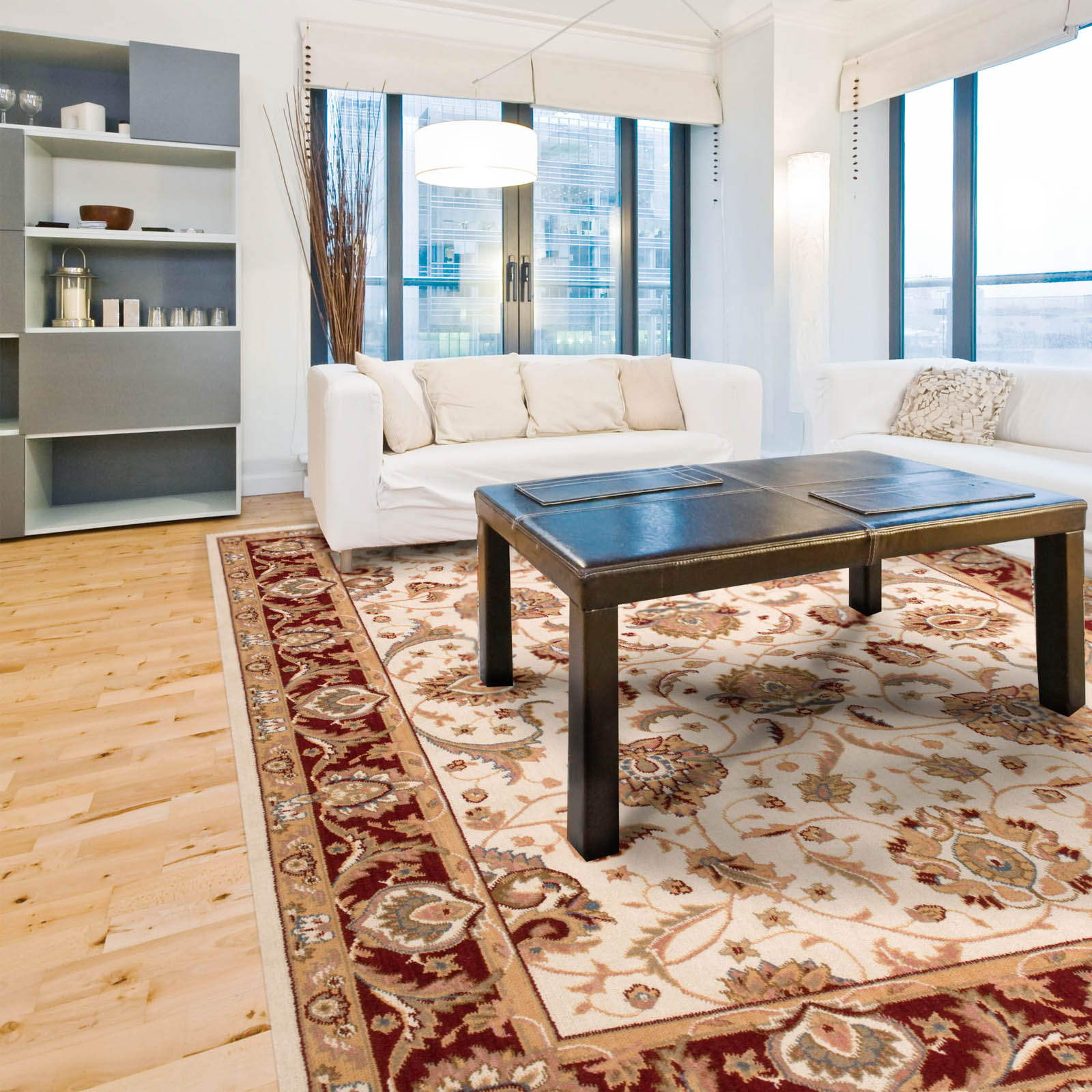Artena Rugs ATN01 in Ivory and Red
