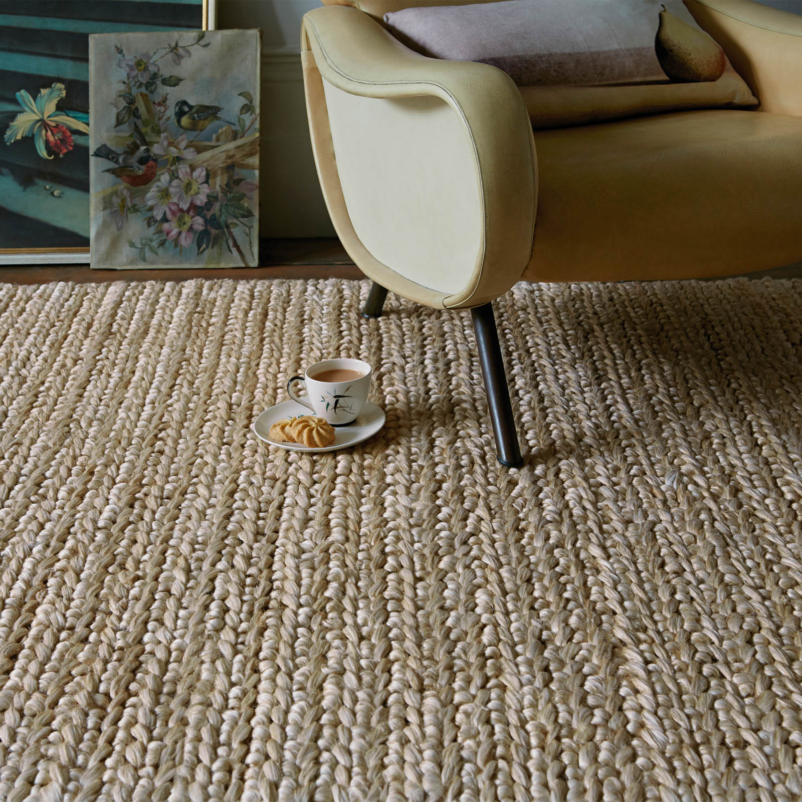 abacus jute rugs in taupe - free uk delivery - the rug seller