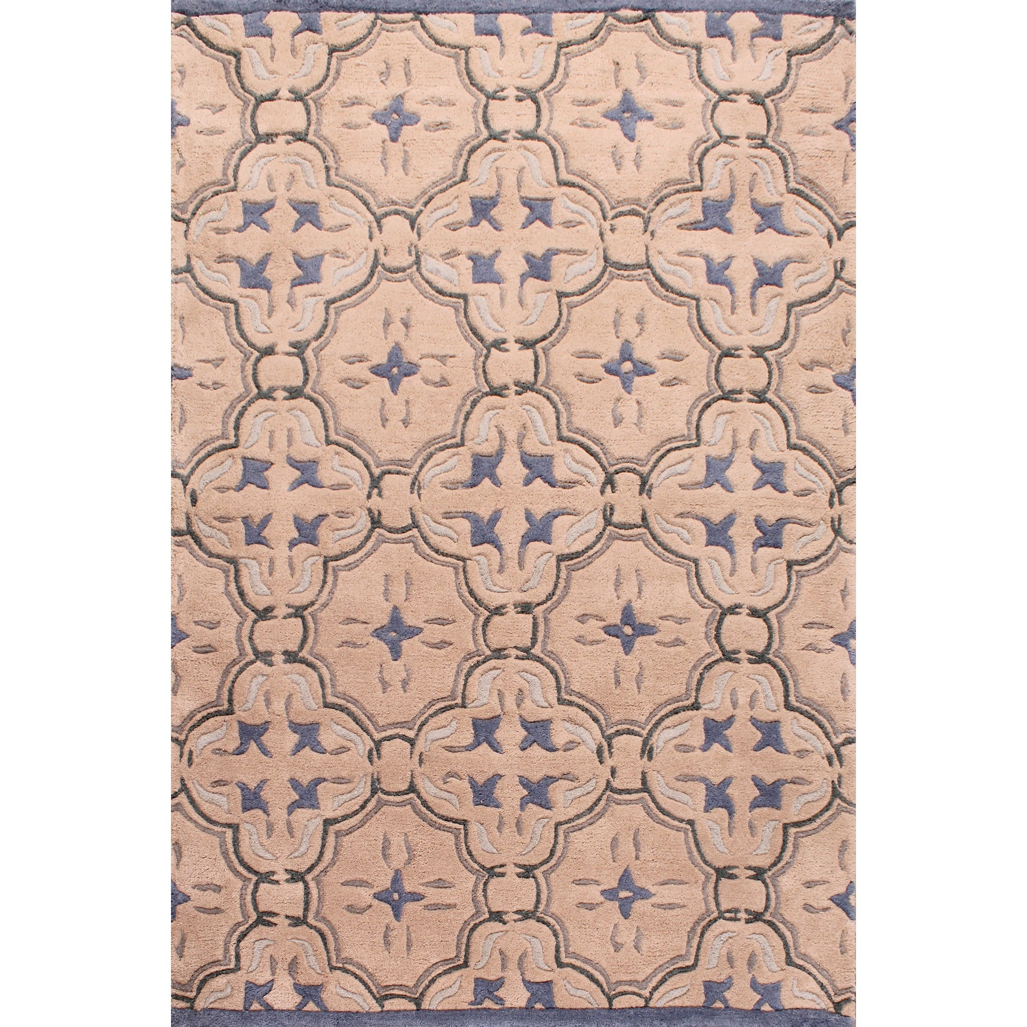 Fusion Aden Rugs in Beige and Blue