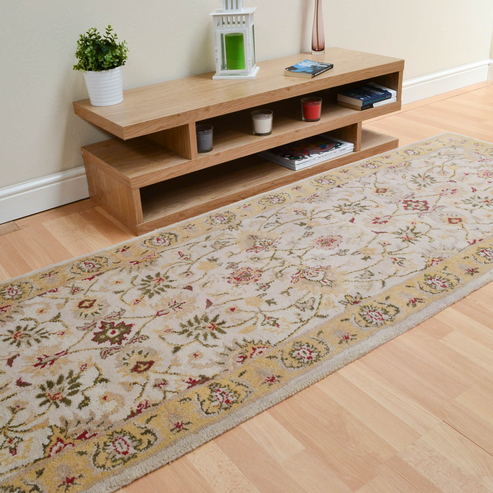 Agra Twist Hallway Runners in  Beige