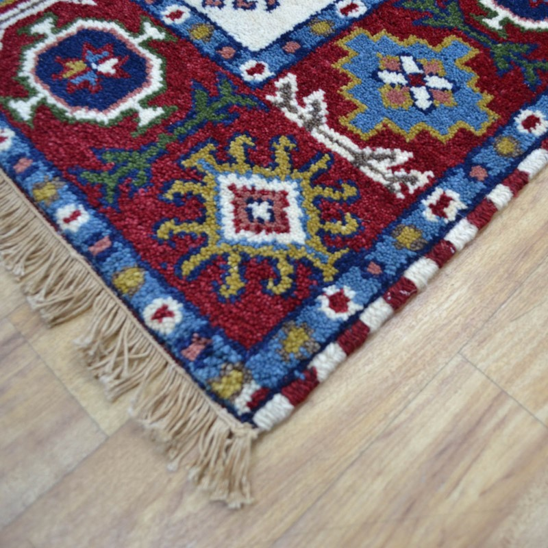 Kilim Rug Cream: Aja Traditional Wool Rug In Cream And Red Buy Online From