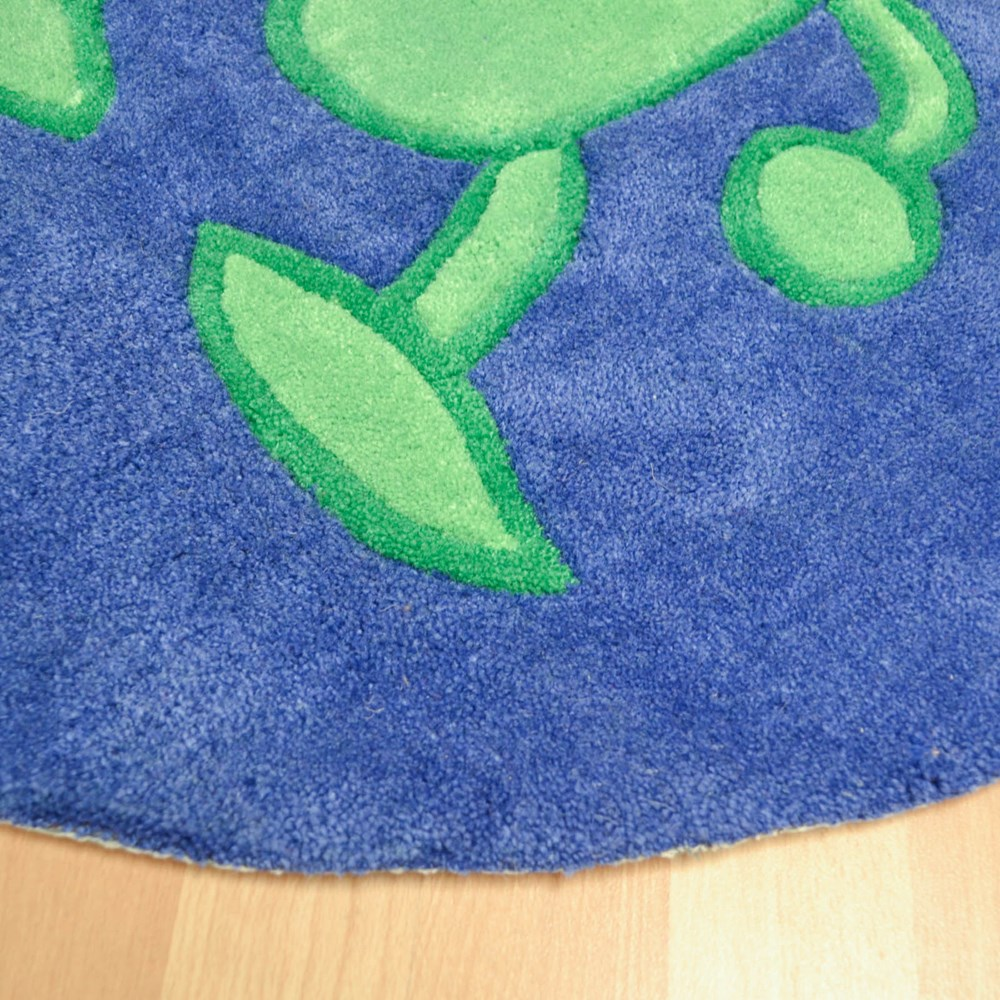 Alien Blue Childrens Rugs In Blue Free Uk Delivery The