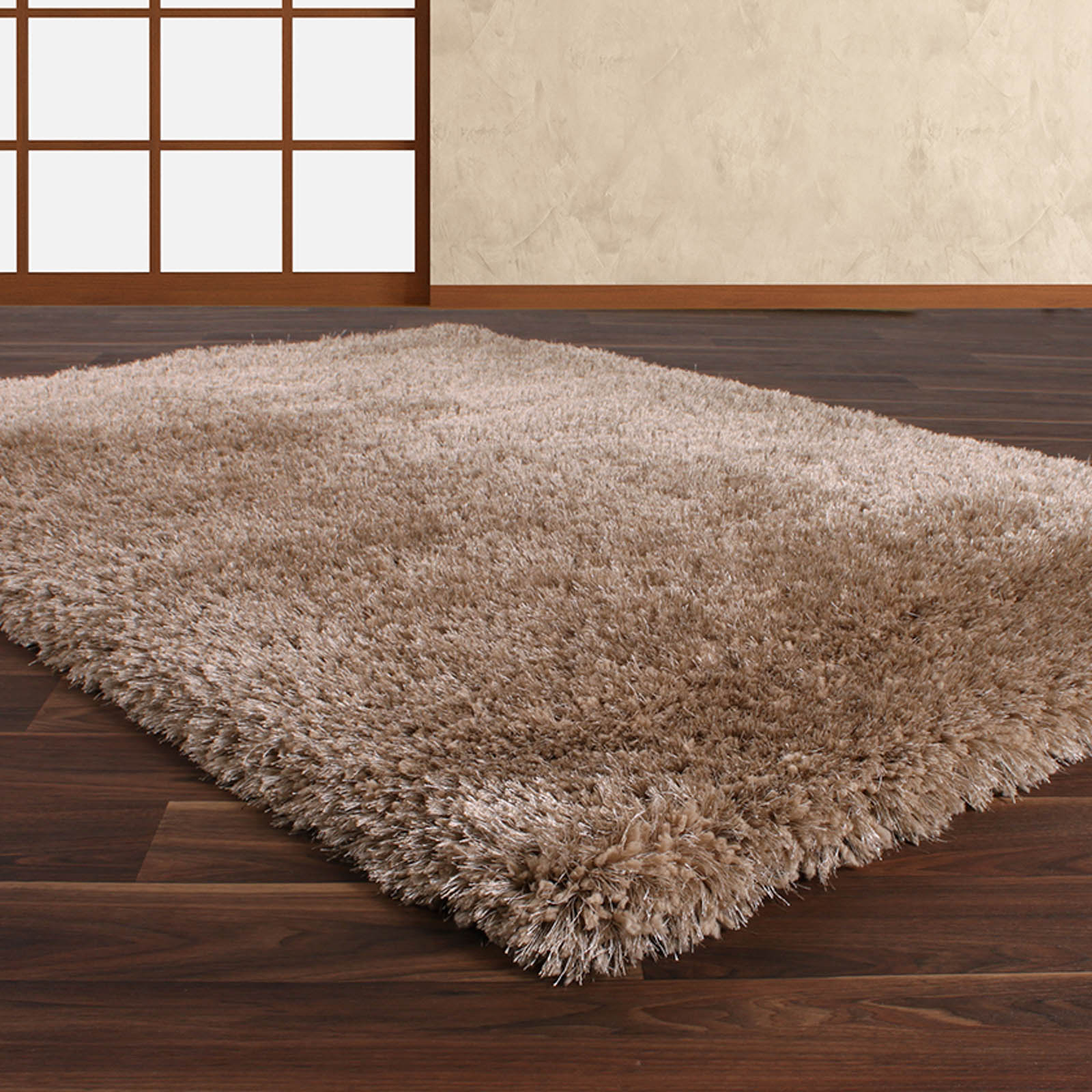 Allure Shaggy Rugs in Beige