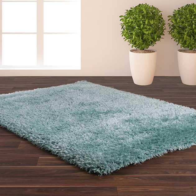 Allure Shaggy Rugs in Blue