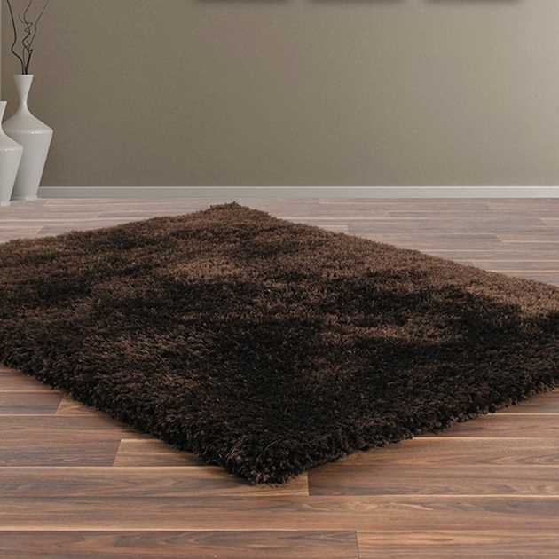 Allure Shaggy Rugs in Chocolate