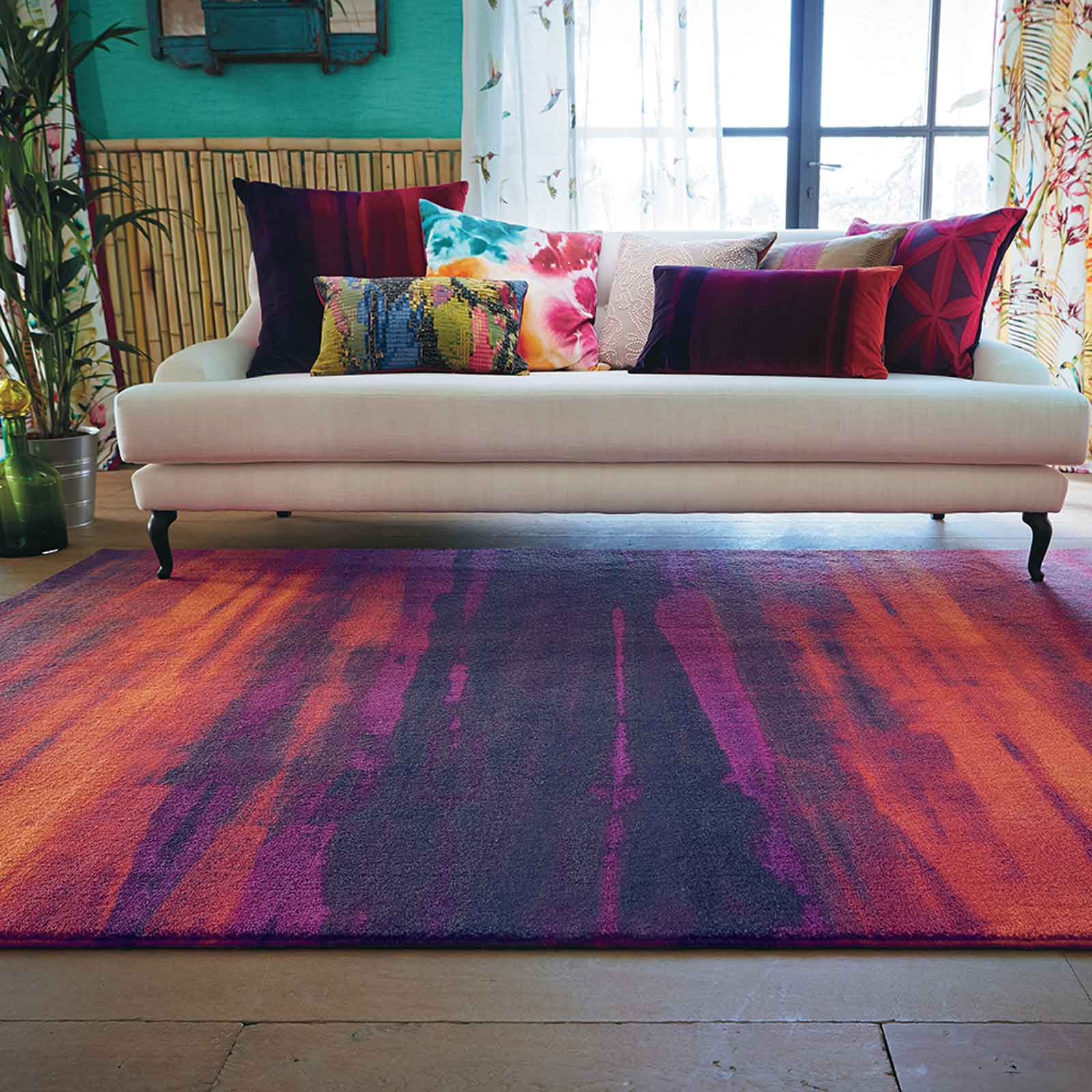 Harlequin Amazilia Rugs 41600 in Loganberry