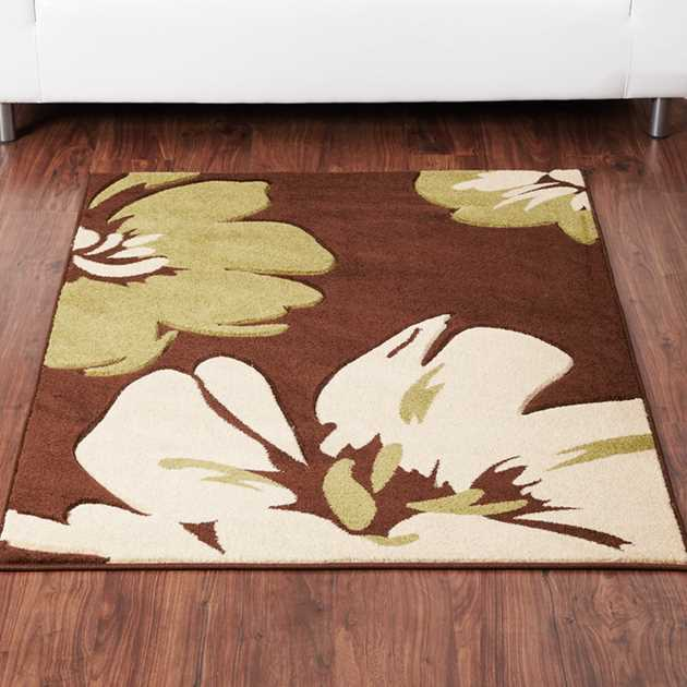 Rapello Amazon Rugs in Chocolate Green