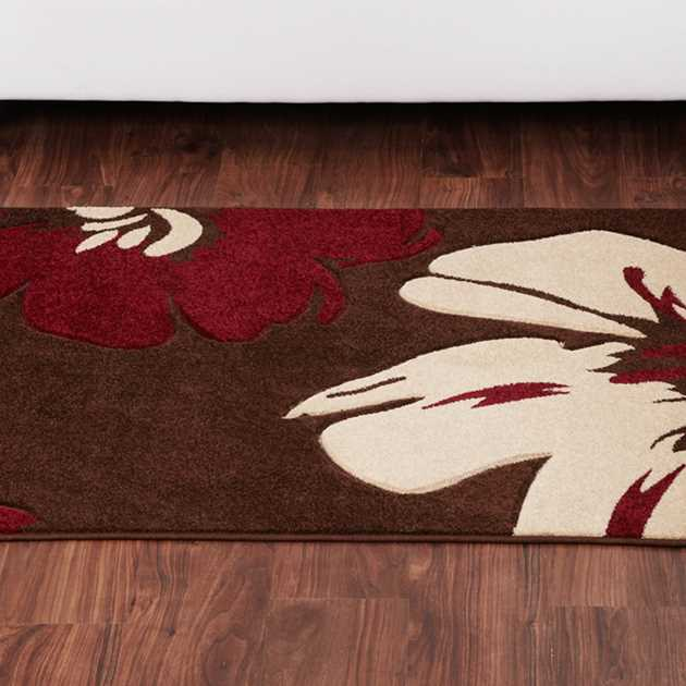 Rapello Amazon Rugs in  Chocolate Red