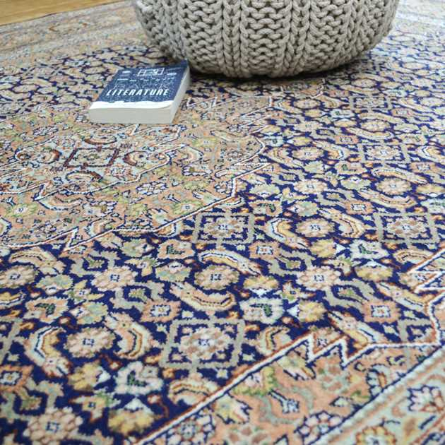 Amina Persian rugs in Navy and multi-colours