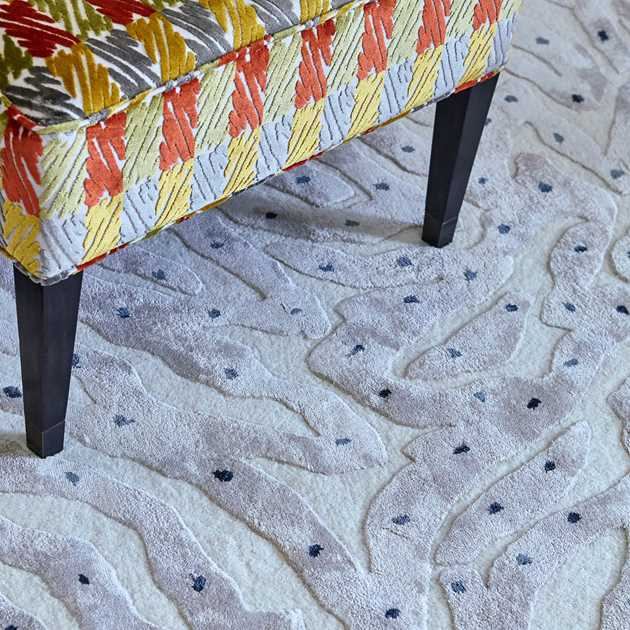 Amitta rugs in Cloud by William Yeoward