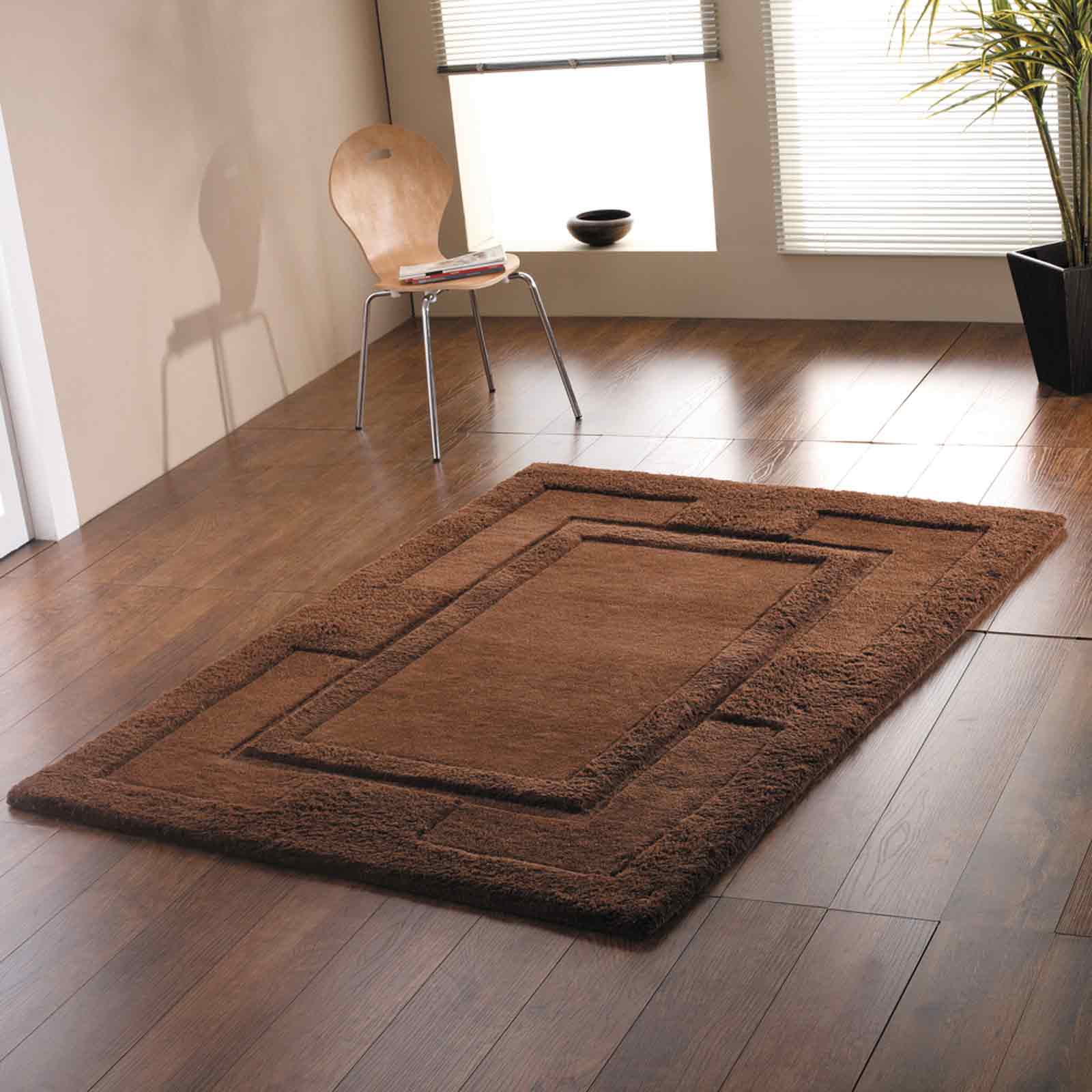 Sierra Apollo Rugs in Chocolate - Pure Wool