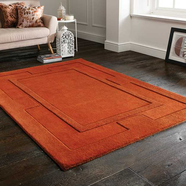 Sierra Apollo Rugs in Rust