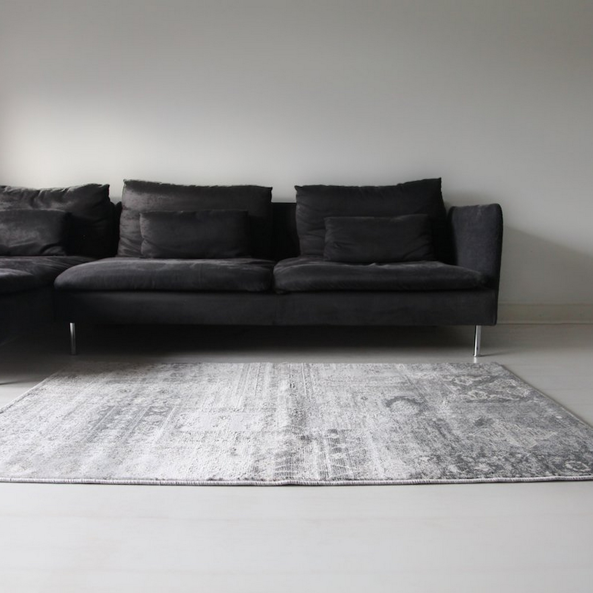 Aquarelle Panel Rugs in Silver