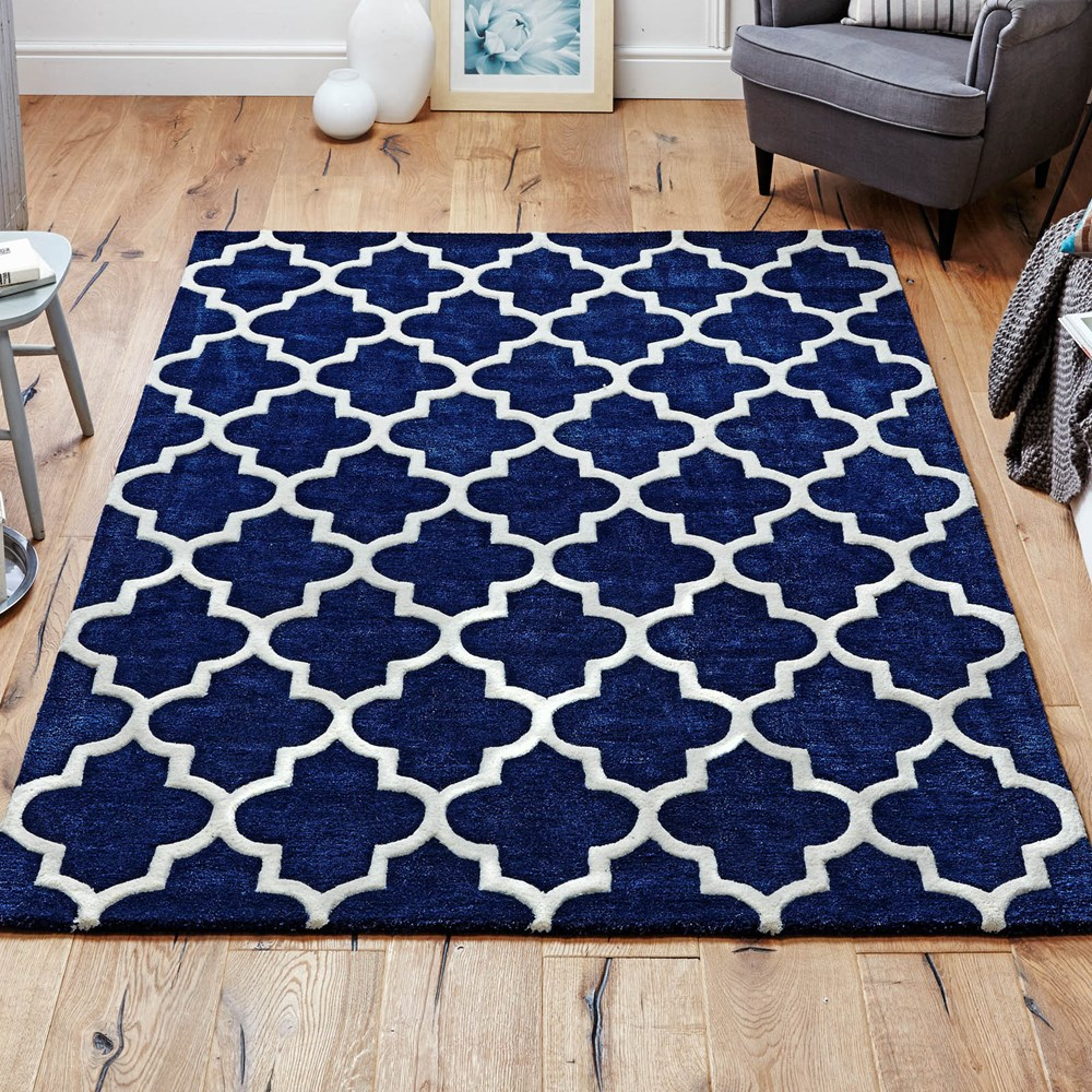 Arabesque Rug In Blue Buy Online From The Rug Seller Uk