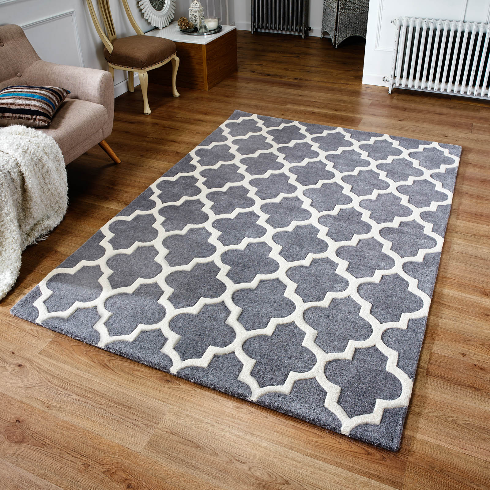 Arabesque Rug in Grey