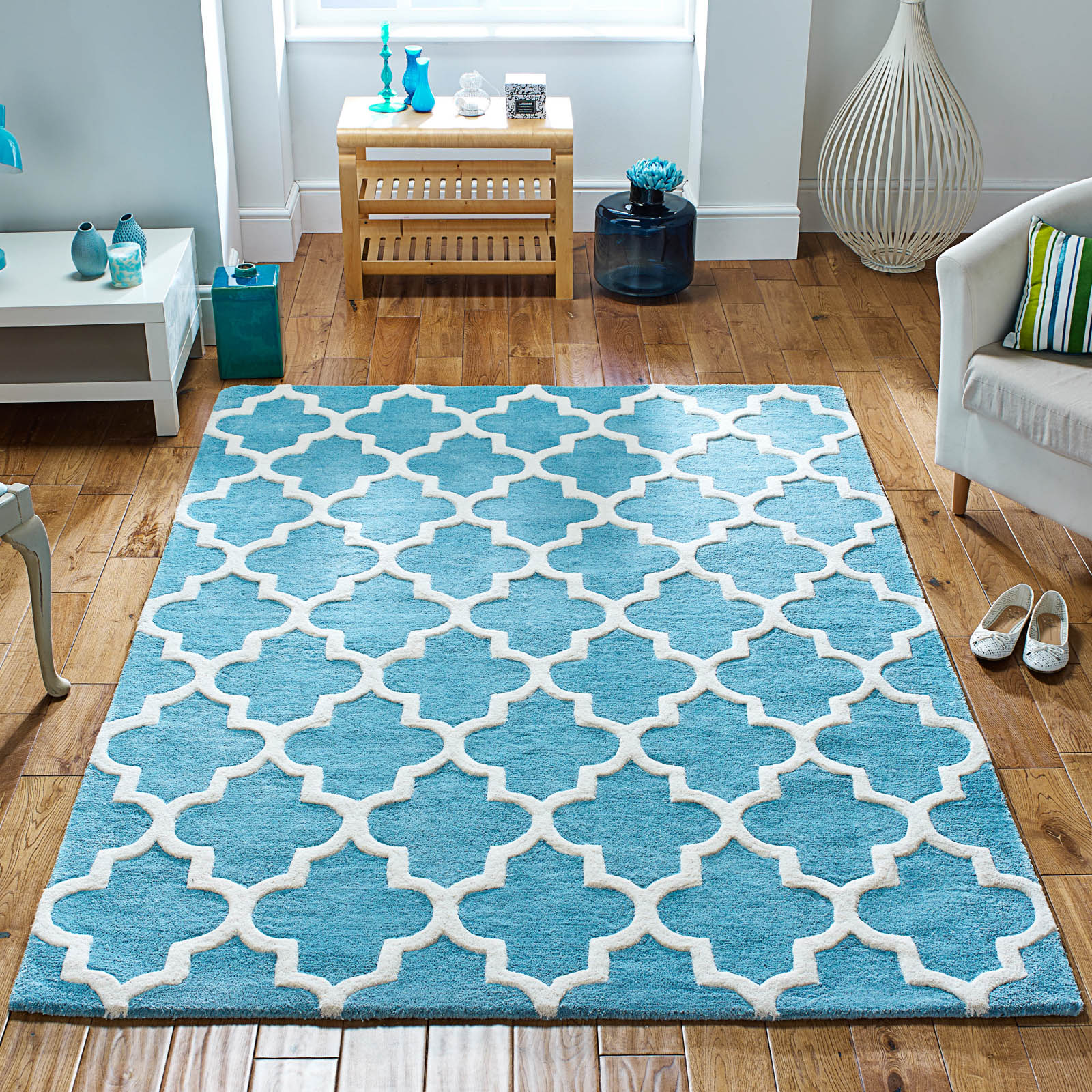 Arabesque Rug In Light Teal