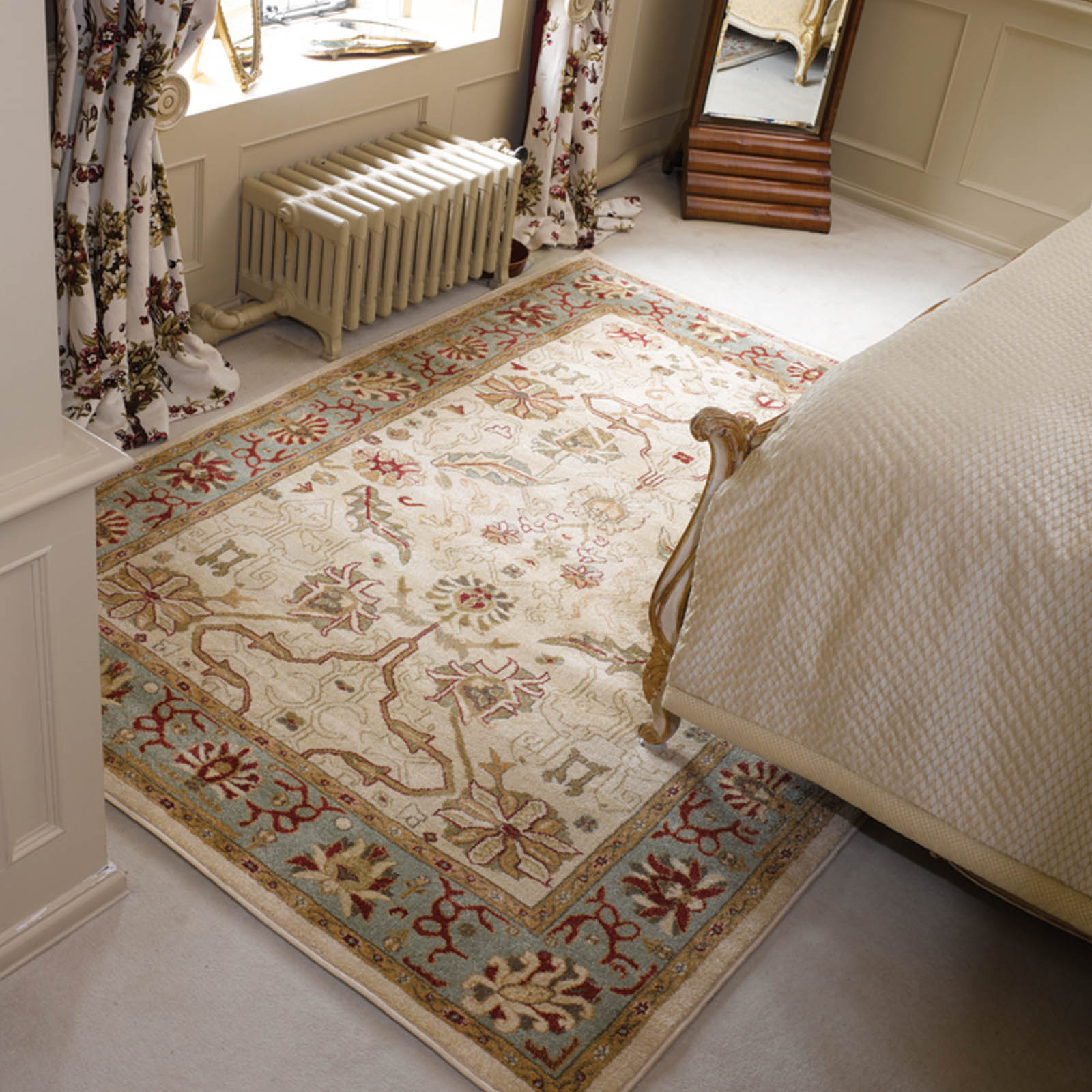 Ziegler Arak Rugs in Cream Green