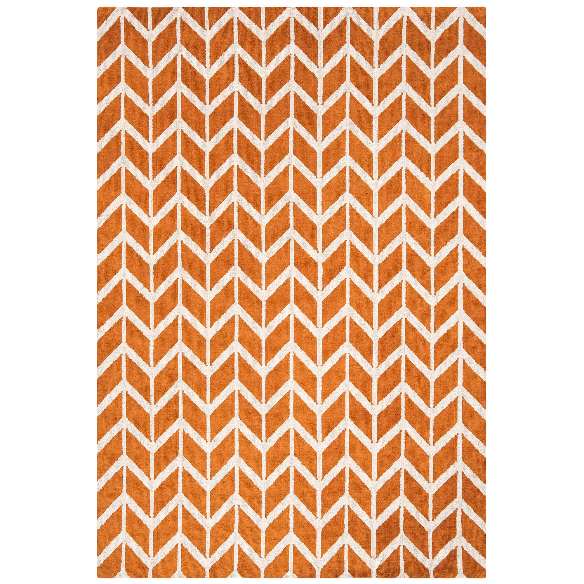 Arlo Chevron Rugs AR07 in Orange
