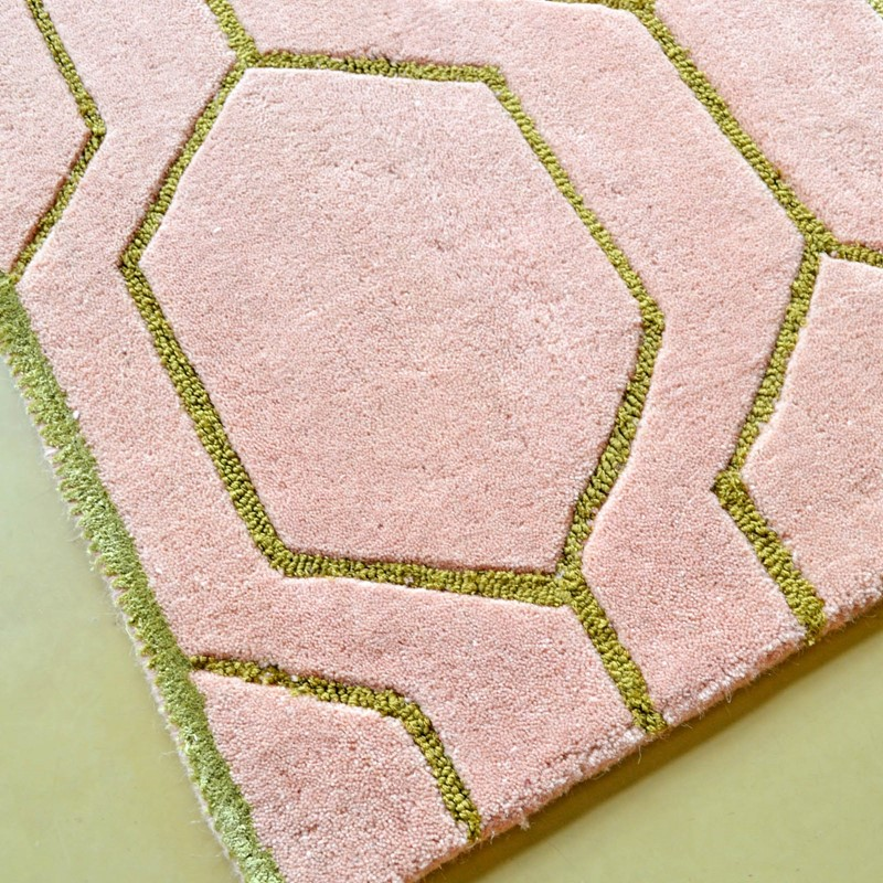 Arris Rugs 37302 In Pink And Gold By Wedgwood Buy Online