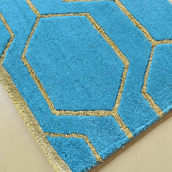 Arris Rugs 37307 In Teal And Gold By Wedgwood Free Uk