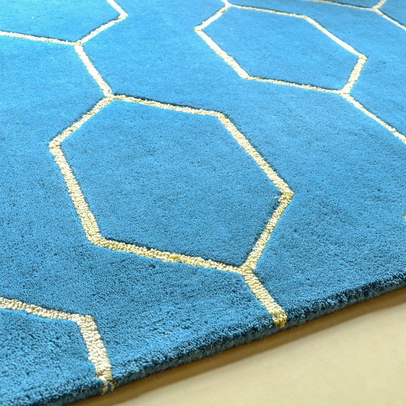 Arris Rugs 37307 In Teal And Gold By Wedgwood Buy Online