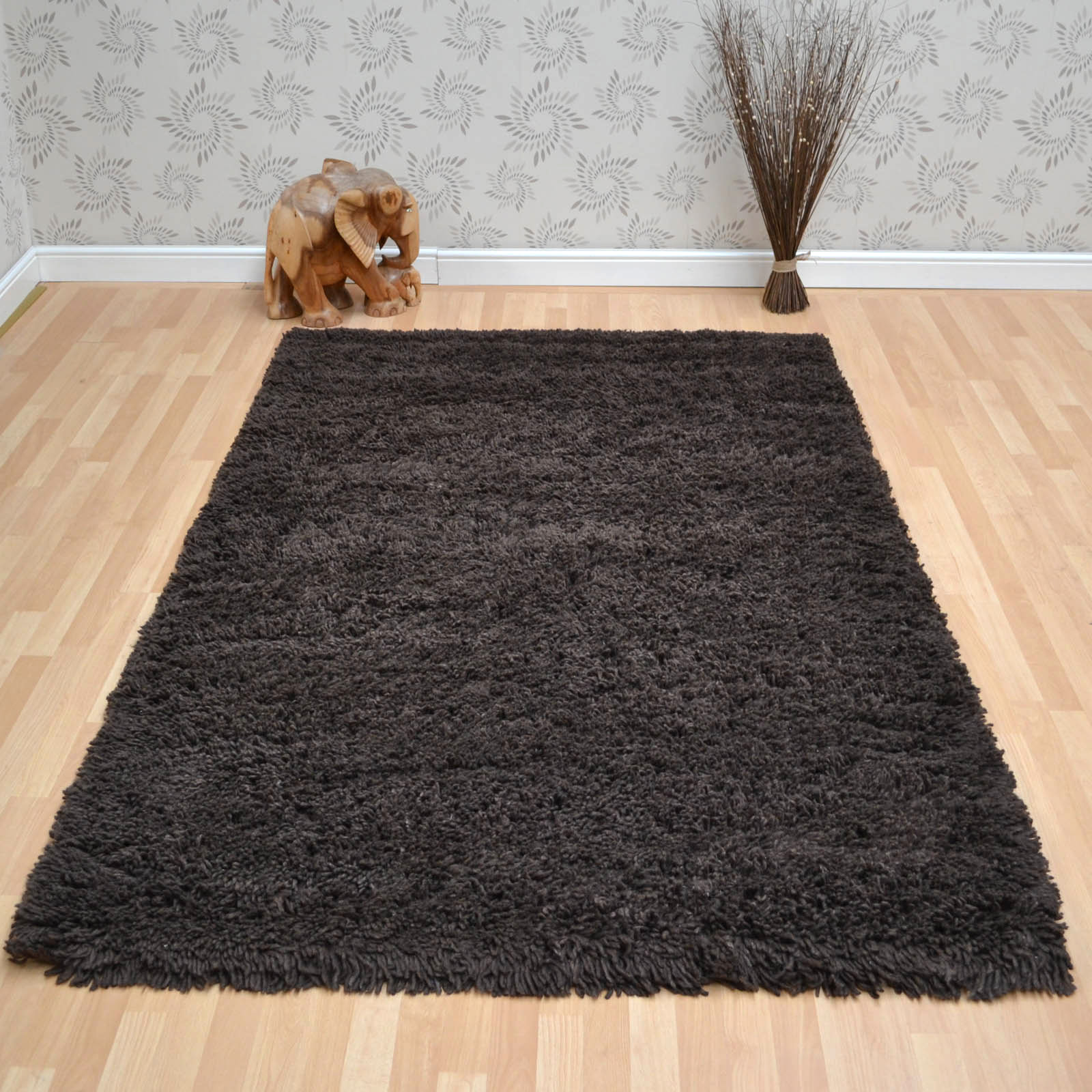 Arctic Shaggy Wool Rugs Tan 20