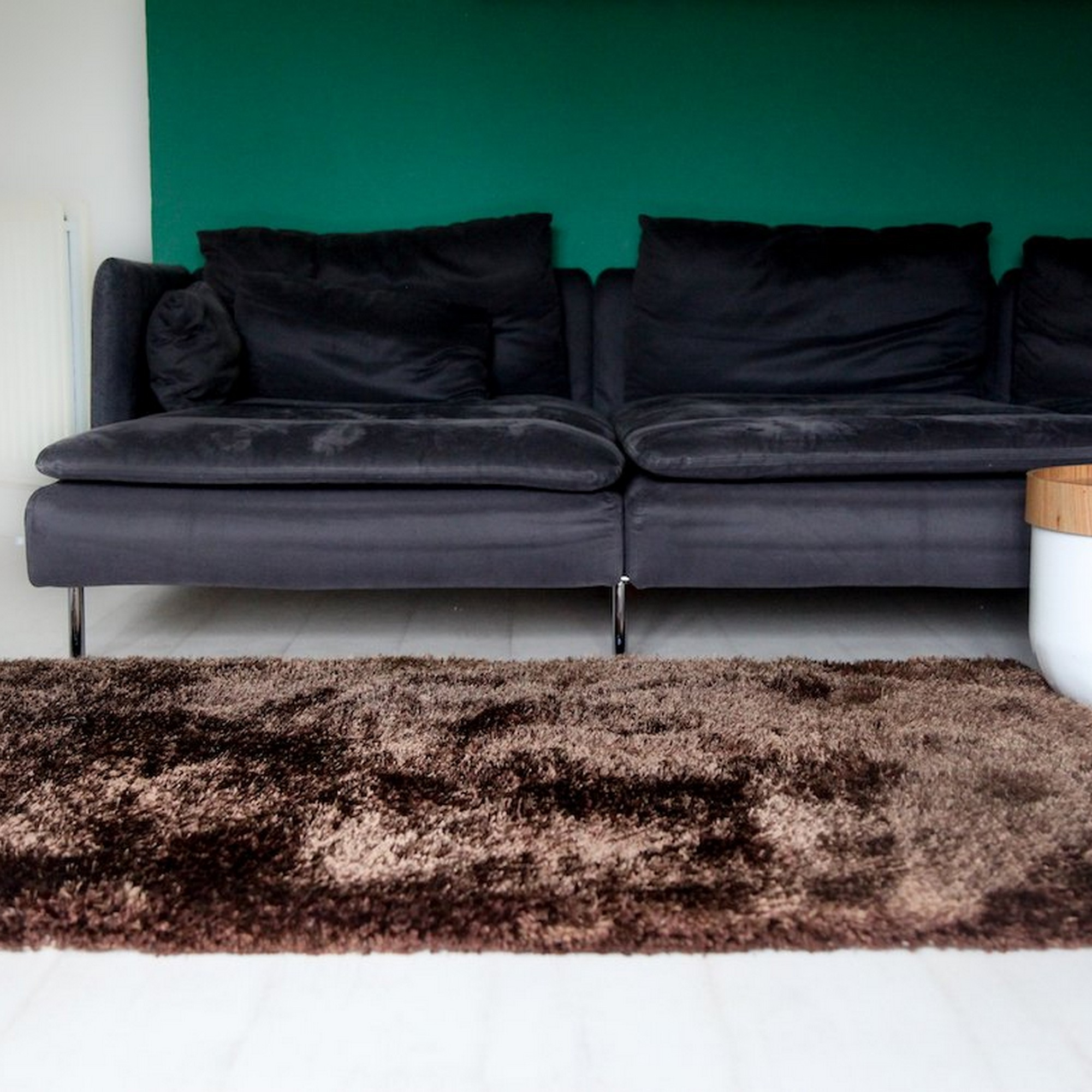 Aruba Shaggy Rugs in Bear Grey